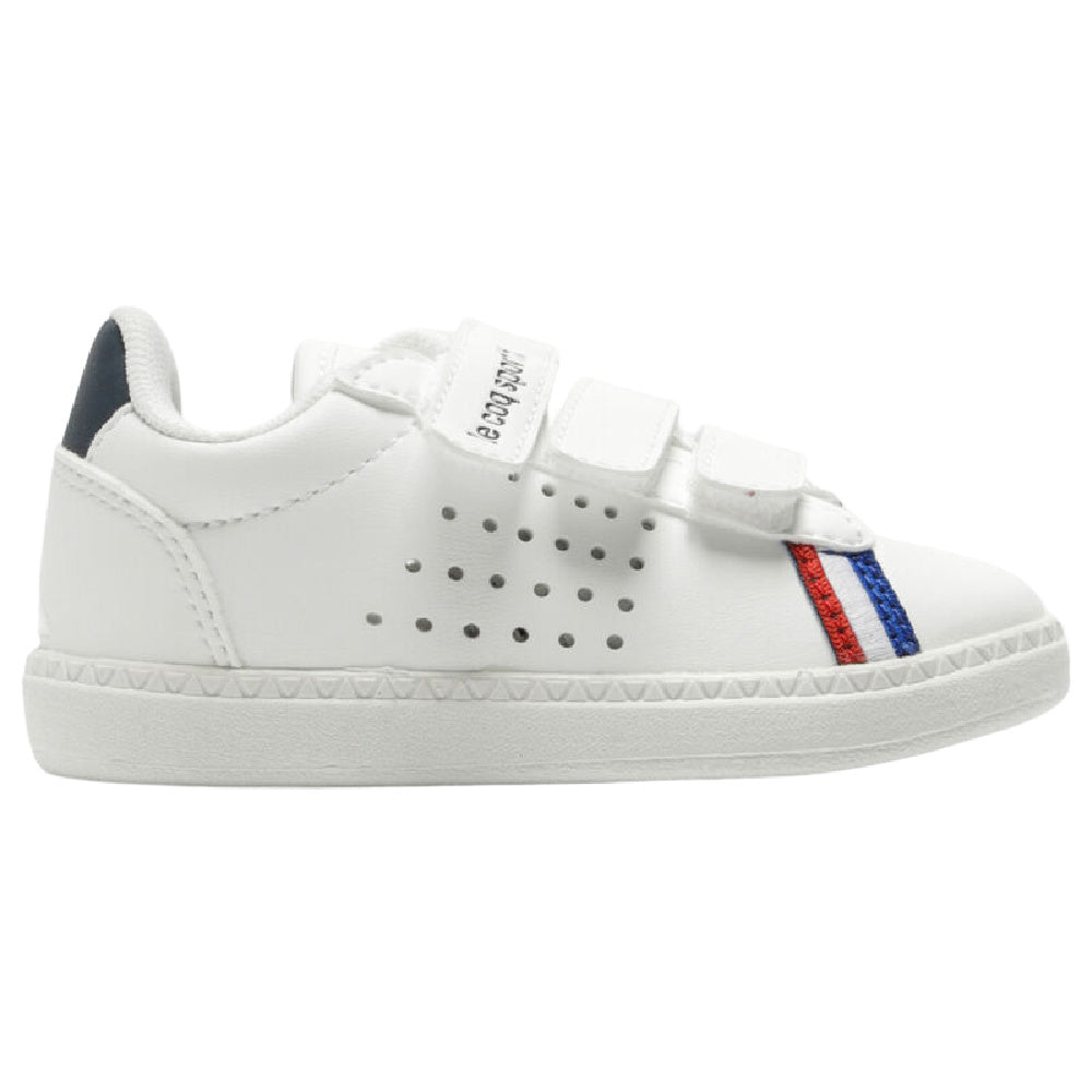 LE COQ SPORTIF | INFANTS COURTSTAR STRAP WHITE NAVY