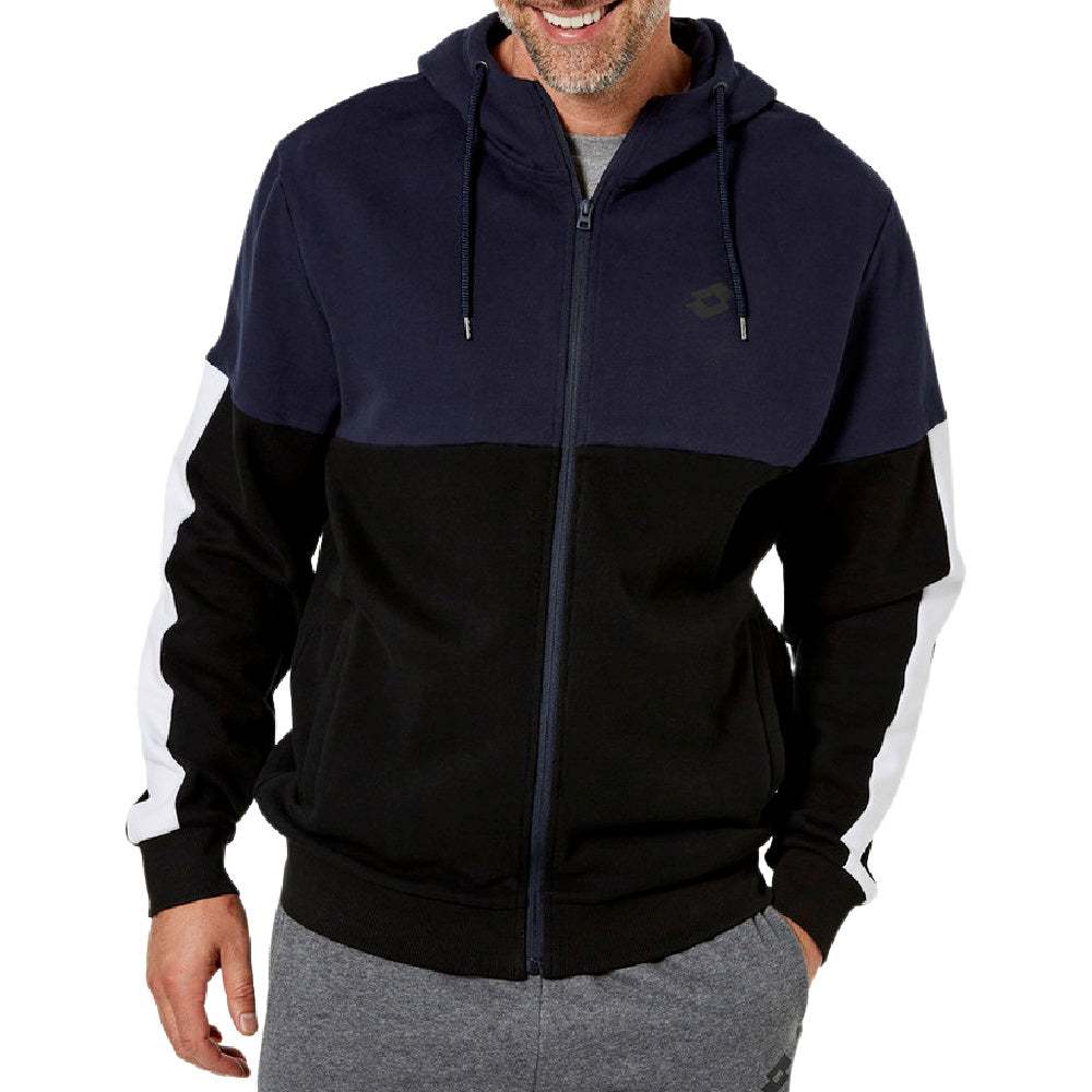 LOTTO | MENS DINAMICO FLEECE FZ HOOD NAVY/GREY