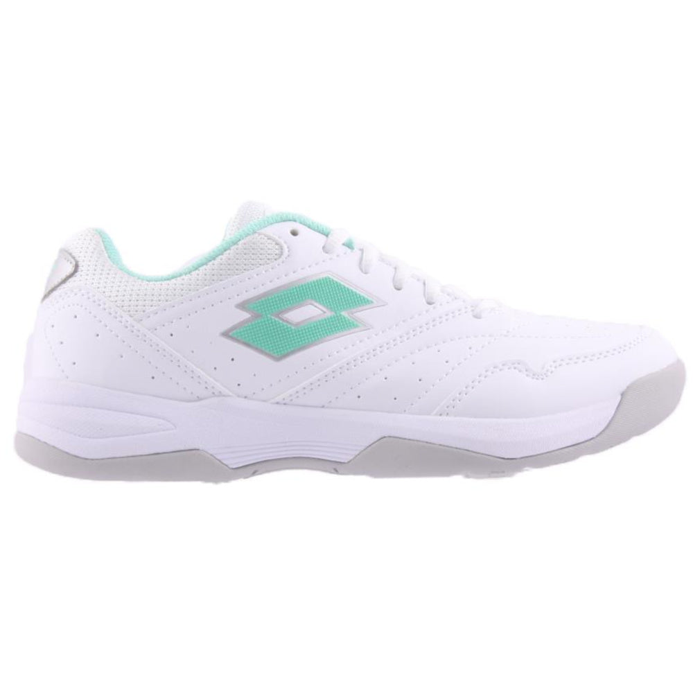 LOTTO | WOMENS COURT LOGO VXIII W WHITE/LIGHT GREEN