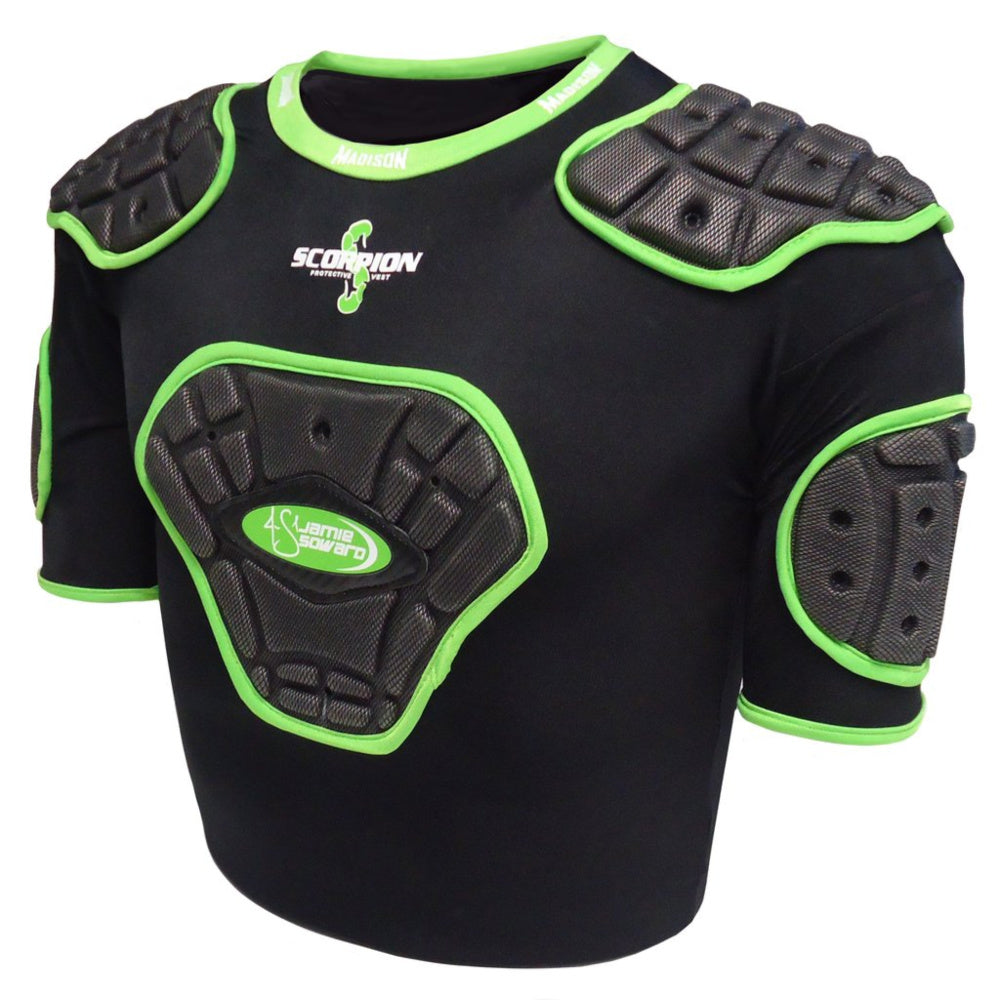 MADISON | SCORPION JUNIOR PROTECTIVE VEST (BLACK/GREEN)
