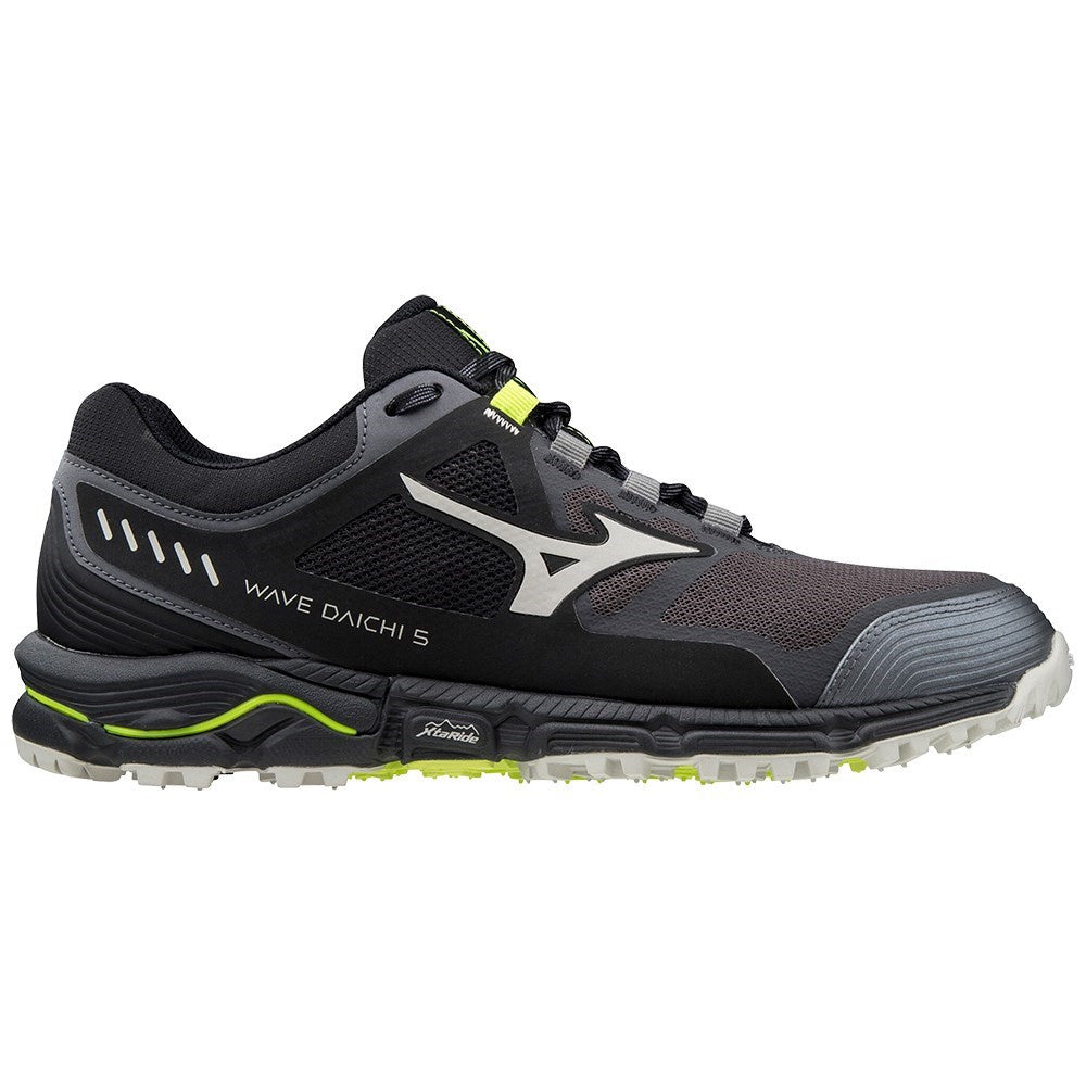 MIZUNO | MENS WAVE DAICHI 5 MAGNET GREY/SAFETY YELLOW
