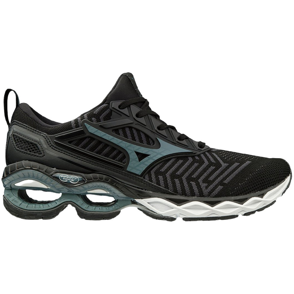 MIZUNO | MENS WAVE CREATION 20 WAVEKNIT BLACK/STORMY BLUE