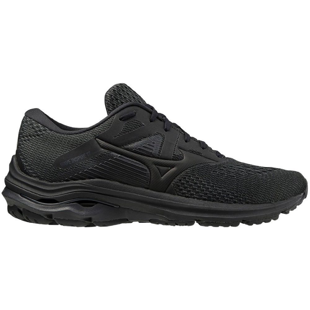 MIZUNO | MENS WAVE INSPIRE 17 BLACK/BLACK
