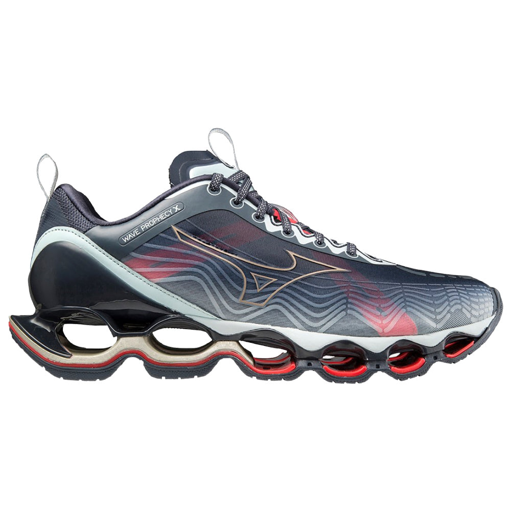 MIZUNO | MENS WAVE PROPHEY X (INDIA INK/RED)