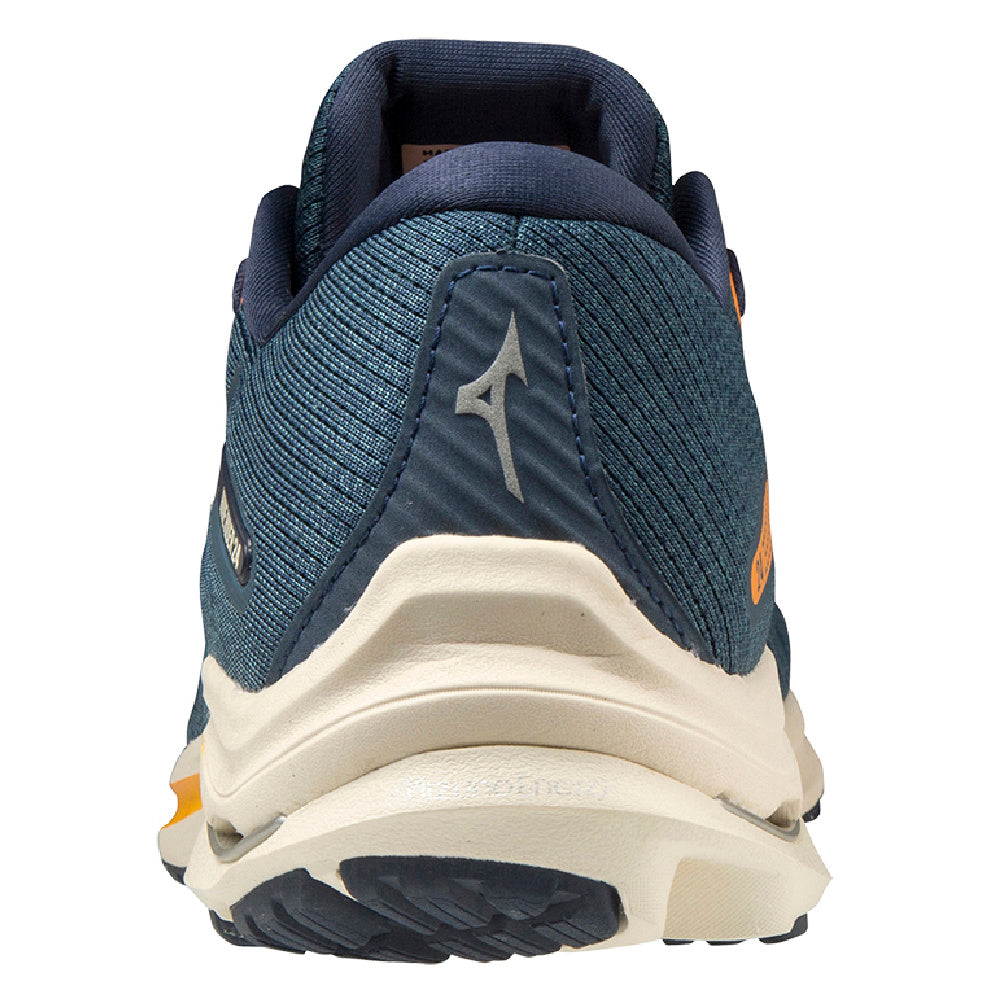 MIZUNO | MENS WAVE RIDER 24 NAVY/WHITE/ORANGE
