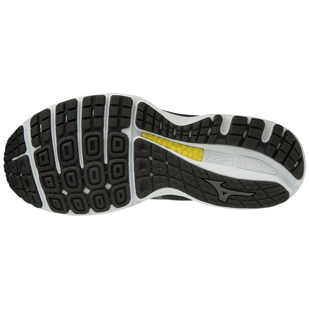 MIZUNO | MENS WAVE SKY 3 WIDE 2E BLACK/WHITE
