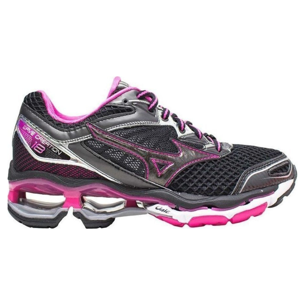 MIZUNO | WOMENS WAVE CREATION 18 BLACK PINK