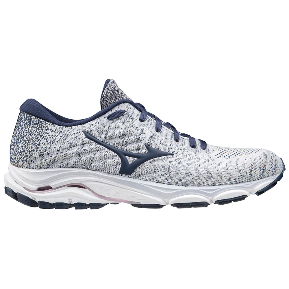 MIZUNO | WOMENS WAVE INSPIRE 16 WAVEKNIT GREY NAVY