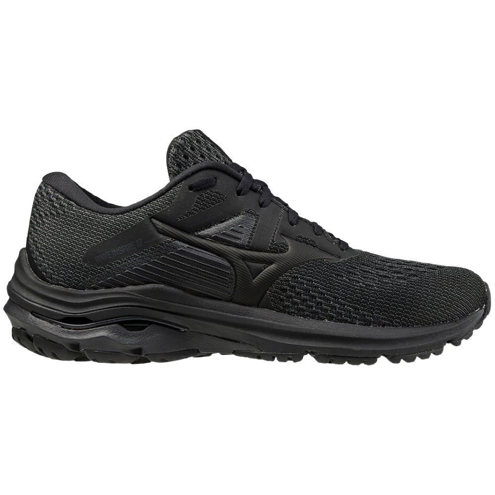 MIZUNO | WOMENS WAVE INSPIRE 17 BLACK/BLACK