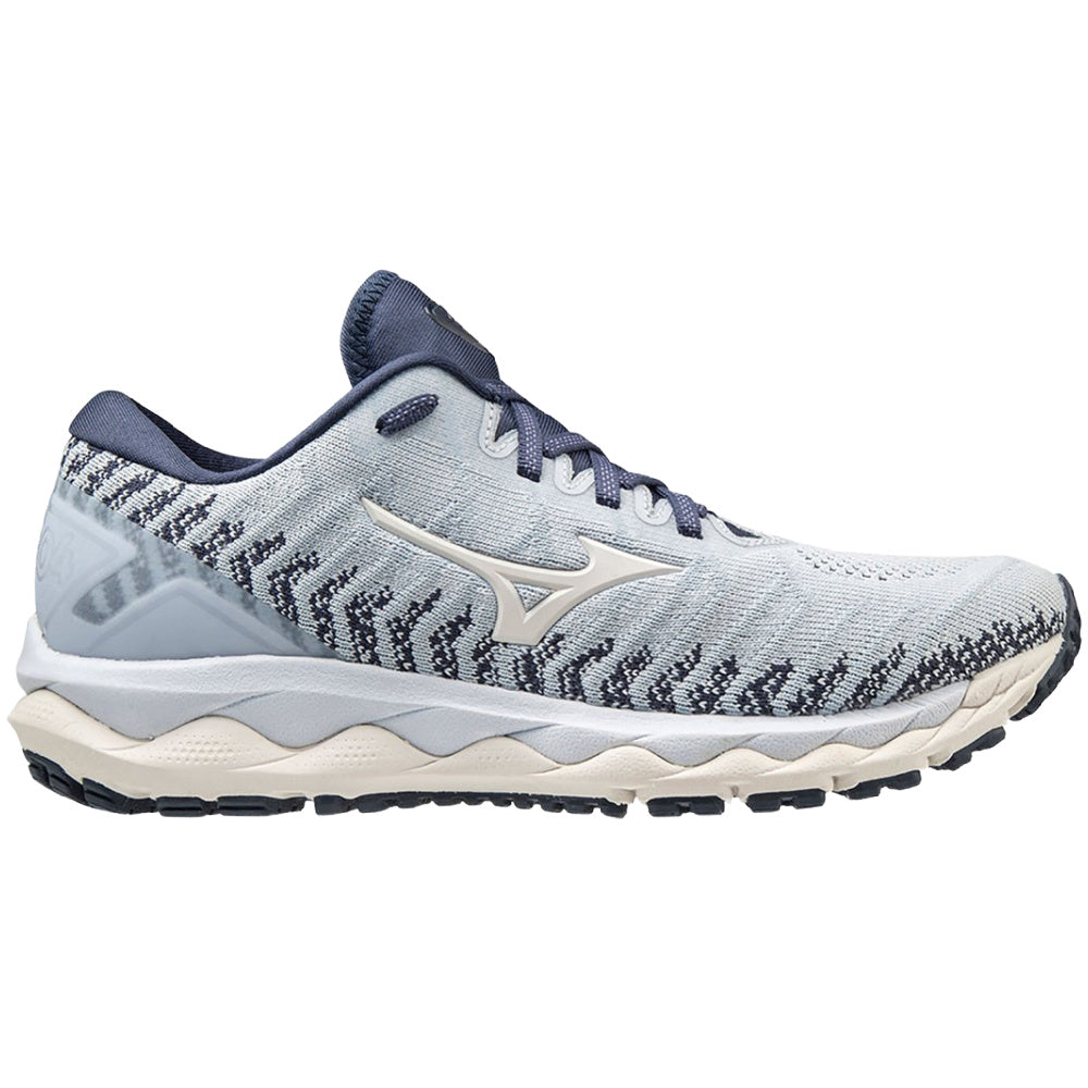 MIZUNO | WOMENS WAVE SKY 4 WAVEKNIT (LIGHT BLUE/WHITE)