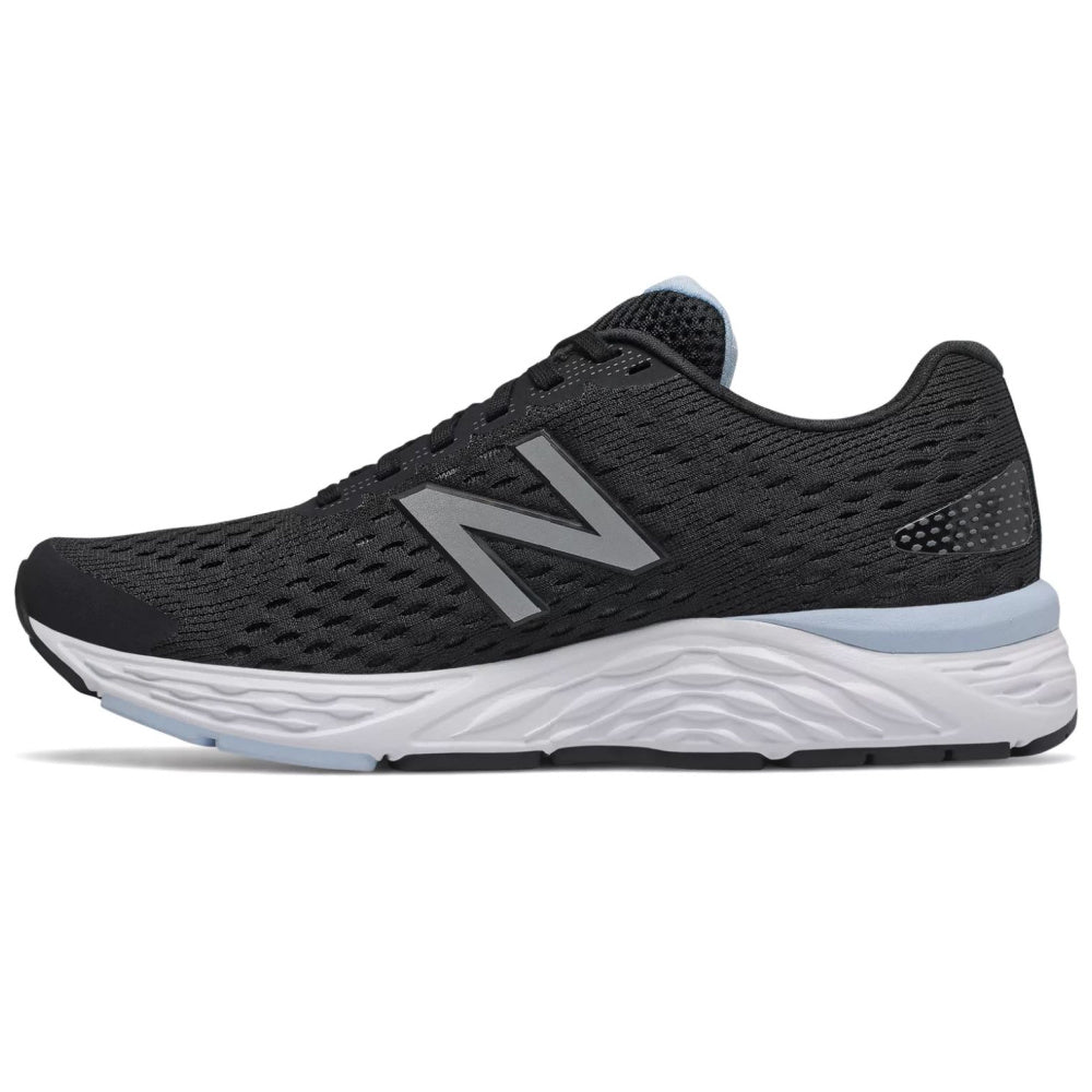 NEW BALANCE | WOMENS 680v6 D WIDE (BLACK/BABY BLUE)