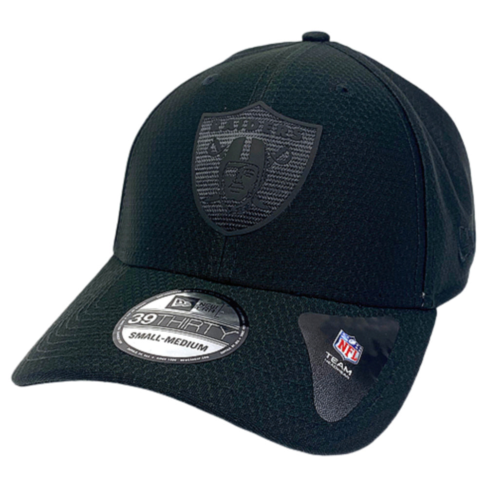 NEW ERA | MENS 39THIRTY STRETCH FIT OAKLAND RAIDERS BLACK HEX