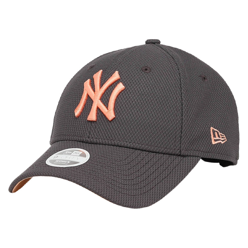 NEW ERA | WOMENS NEW YORK YANKEES ADJUSTABLE 9FORTY (GREY/PEACH)