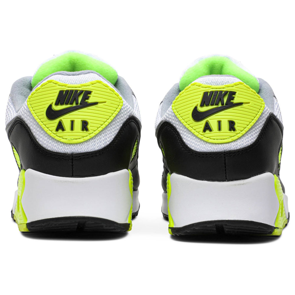 NIKE | MENS AIR MAX 90 (WHITE/PARTICLE GREY-VOLT-BLACK)