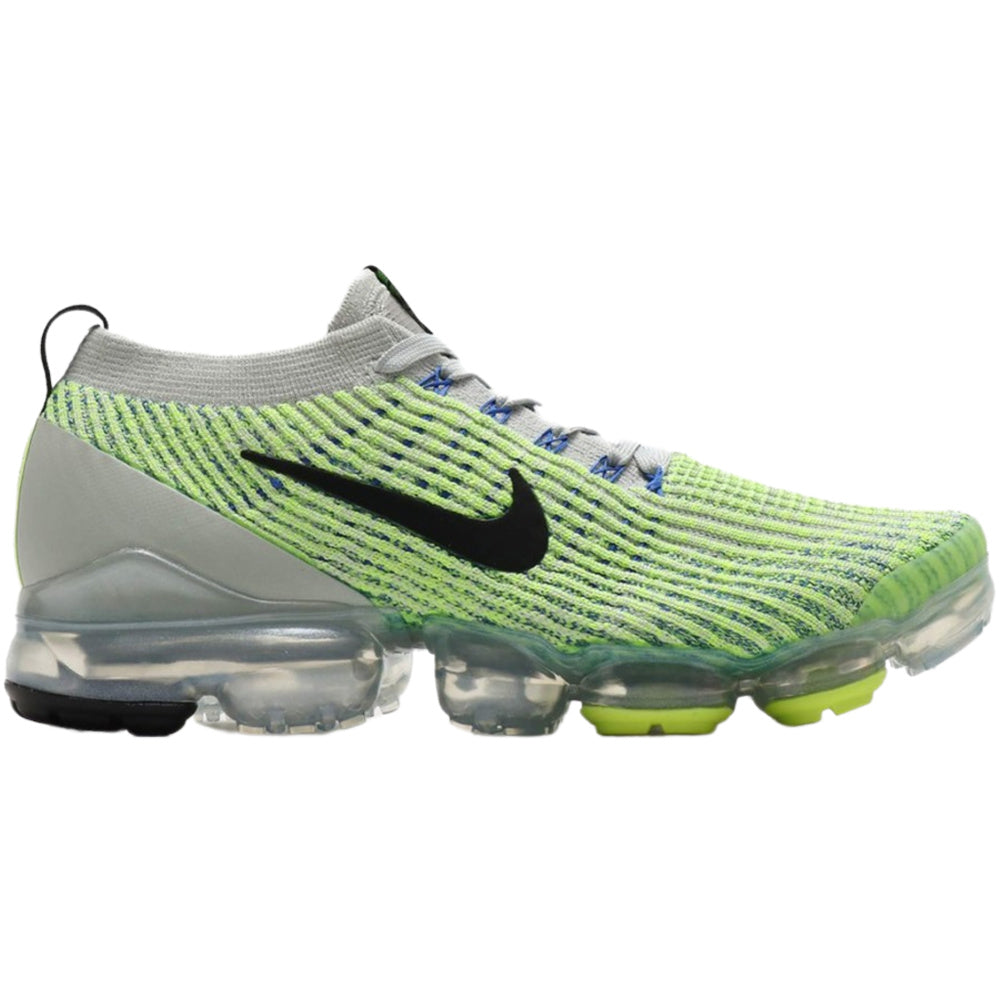 NIKE | MENS AIR VAPORMAX FLYNKIT 3 (LIGHT SILVER/ BLACK-VOLT GLOW)