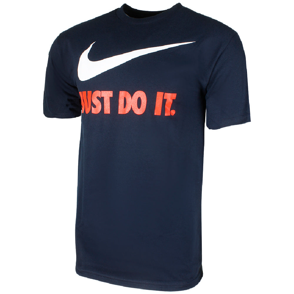 NIKE | MENS JUST DO IT SWOOSH SPORT TEE NAVY