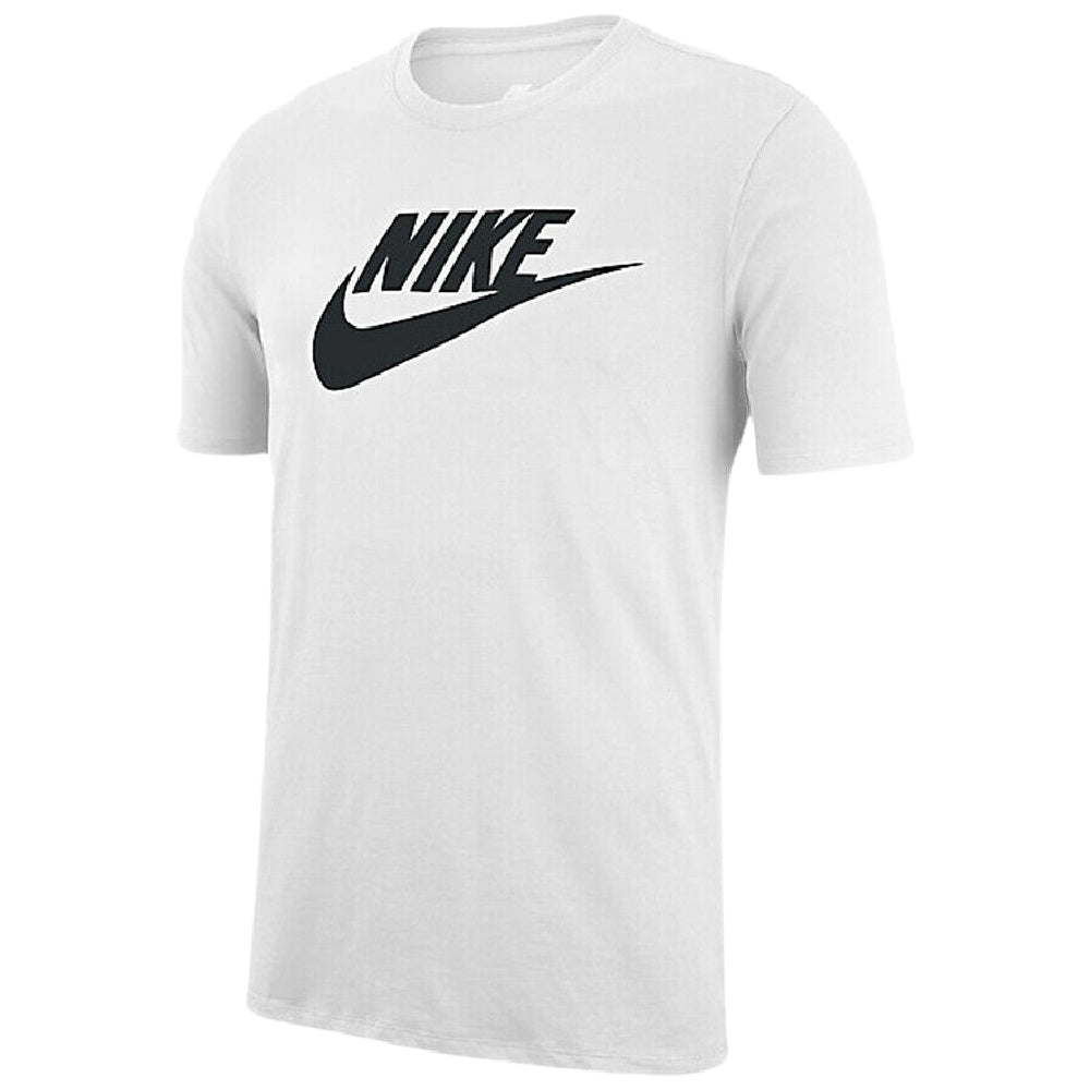 NIKE | MENS SHORT SLEEVE LOGO SWOOSH PRINTED GYM ACTIVE TEE WHITE