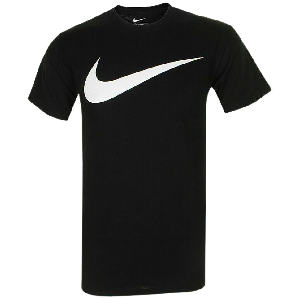 NIKE | MENS SWOOSH COTTON TEE BLACK
