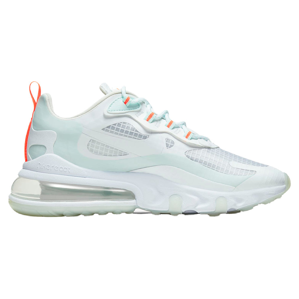 NIKE | WOMENS AIR MAX 270 REACT SE (WHITE/HYPER CRIMSON)