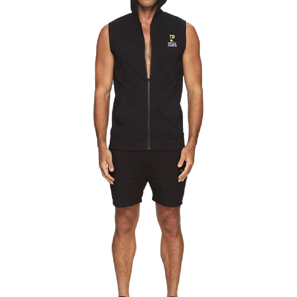 PRIZE FIGHTER | MENS SLEEVELESS HOODY BLACK