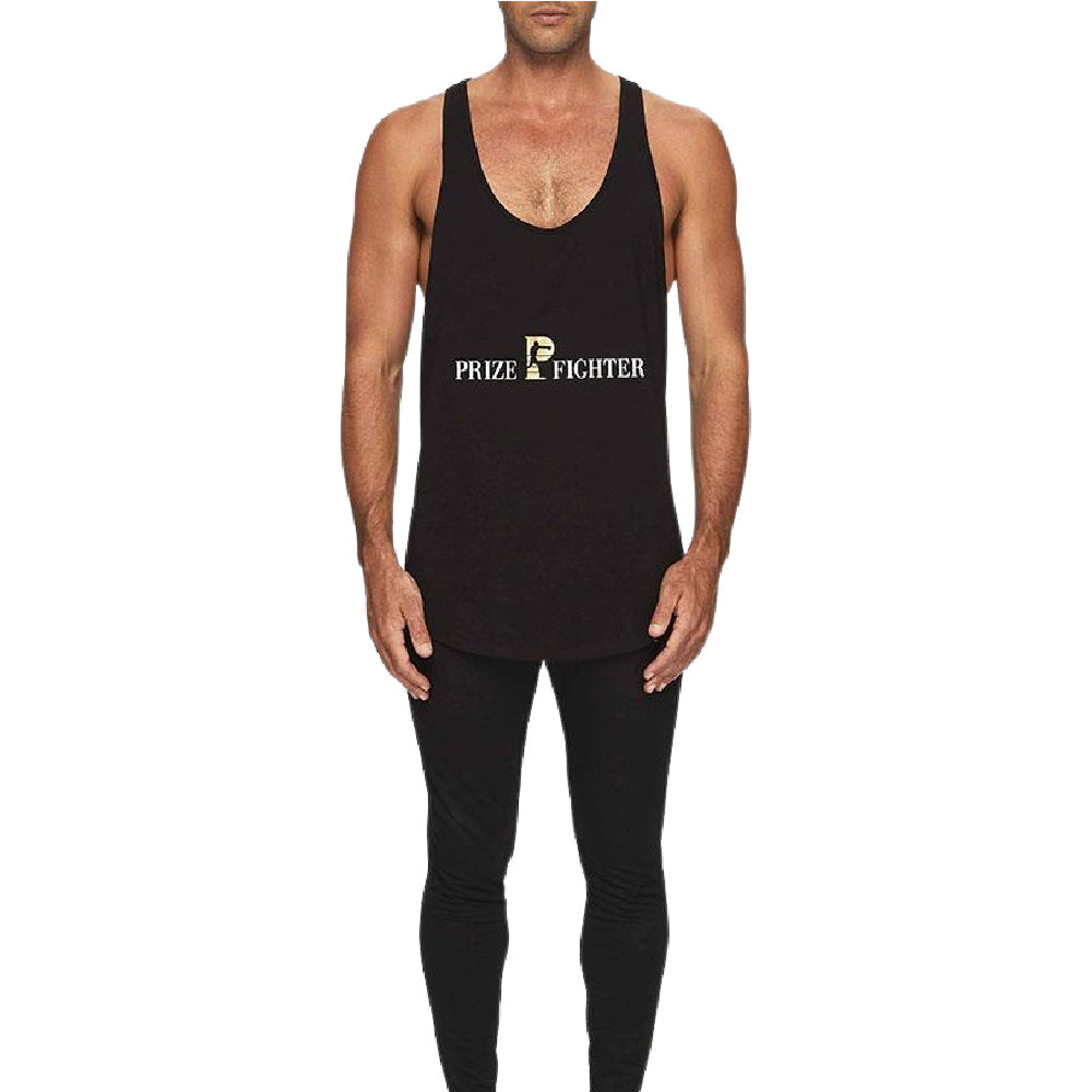PRIZE FIGHTER | MENS TRAINING SINGLET BLACK