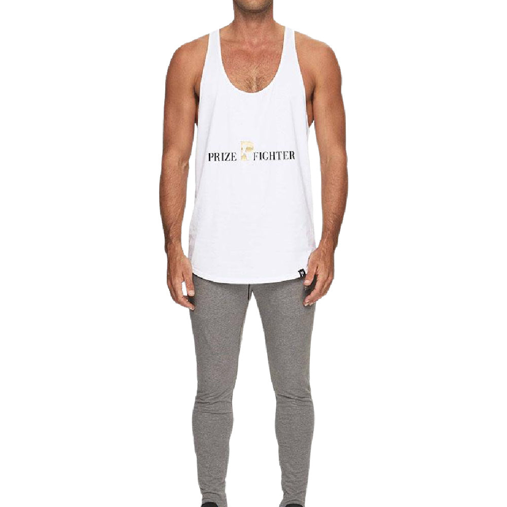 PRIZE FIGHTER | MENS TRAINING SINGLET WHITE