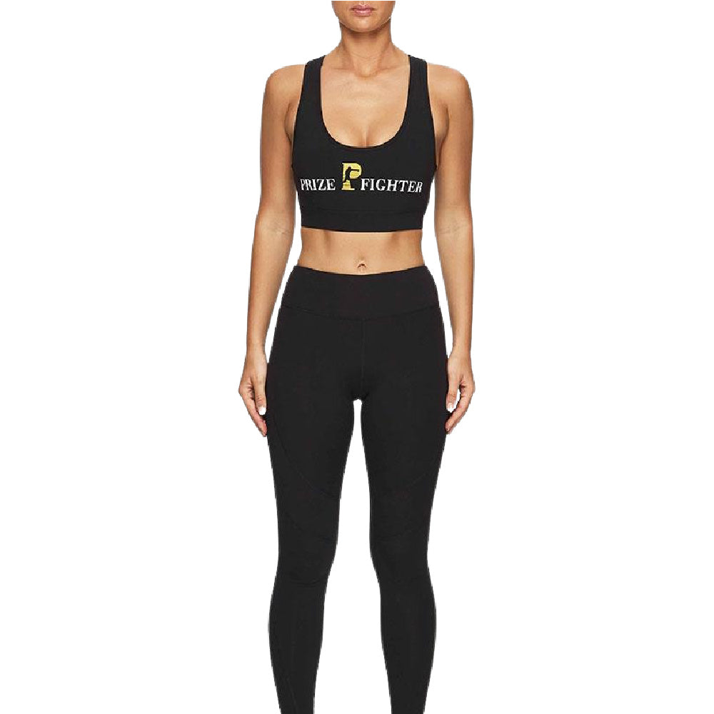PRIZE FIGHTER | WOMENS CLASSIC SPORTS BRA BLACK