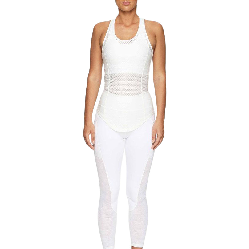 PRIZE FIGHTER | WOMENS COMPRESSION SINGLET WHITE