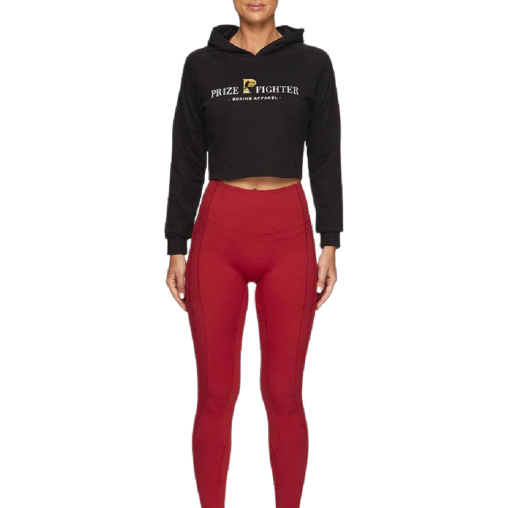 PRIZE FIGHTER | WOMENS CROP JUMPER BLACK