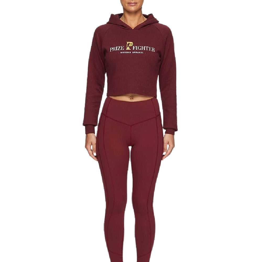 PRIZE FIGHTER | WOMENS CROP JUMPER WINE