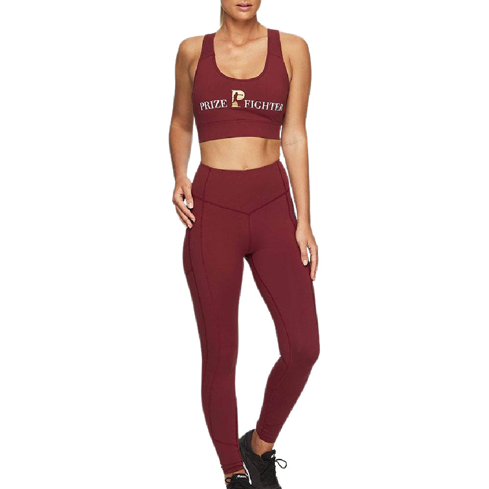 PRIZE FIGHTER | WOMENS SPORTS BRA TOP WINE