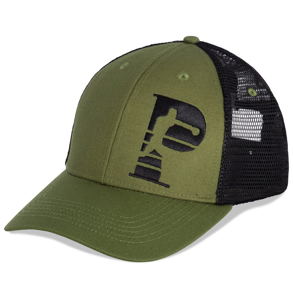 PRIZE FIGHTER | UNISEX 6 PANEL BRIM CAP OLIVE GREEN