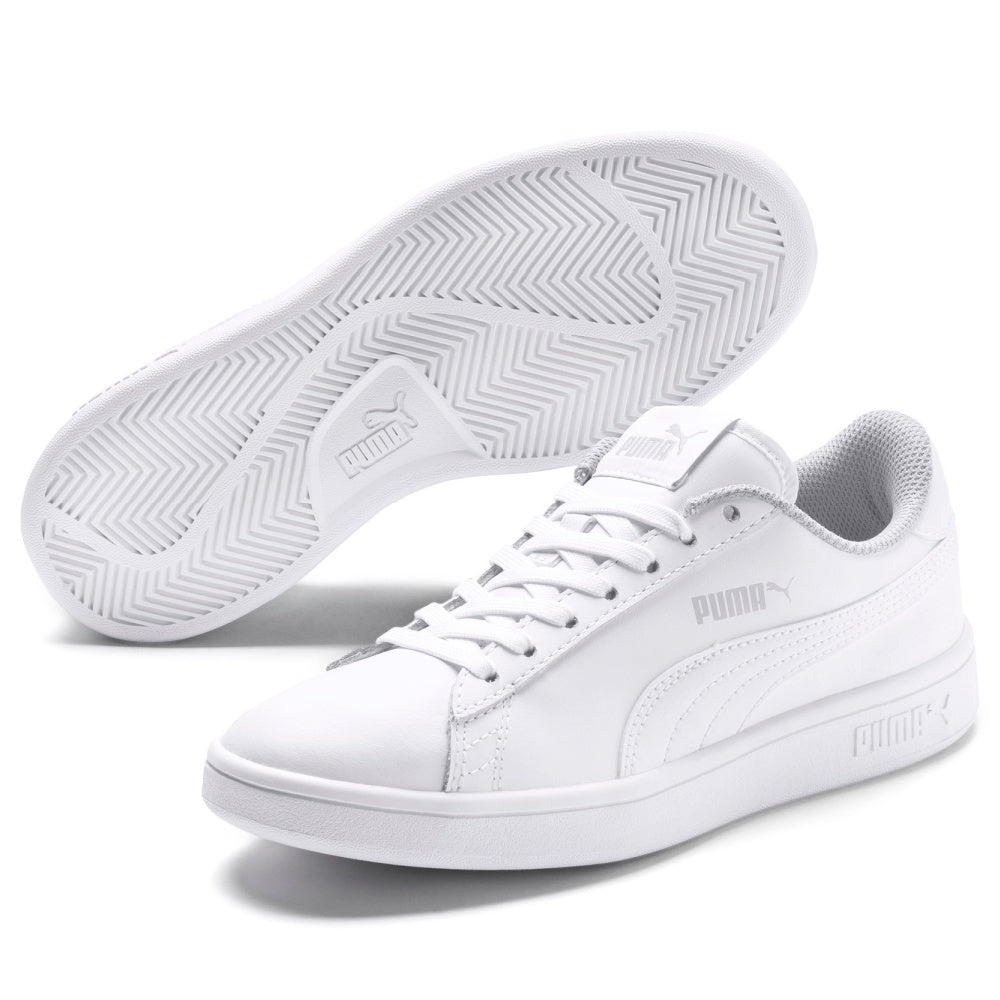 PUMA | KIDS SMASH V2 LEATHER JR (WHITE/WHITE)