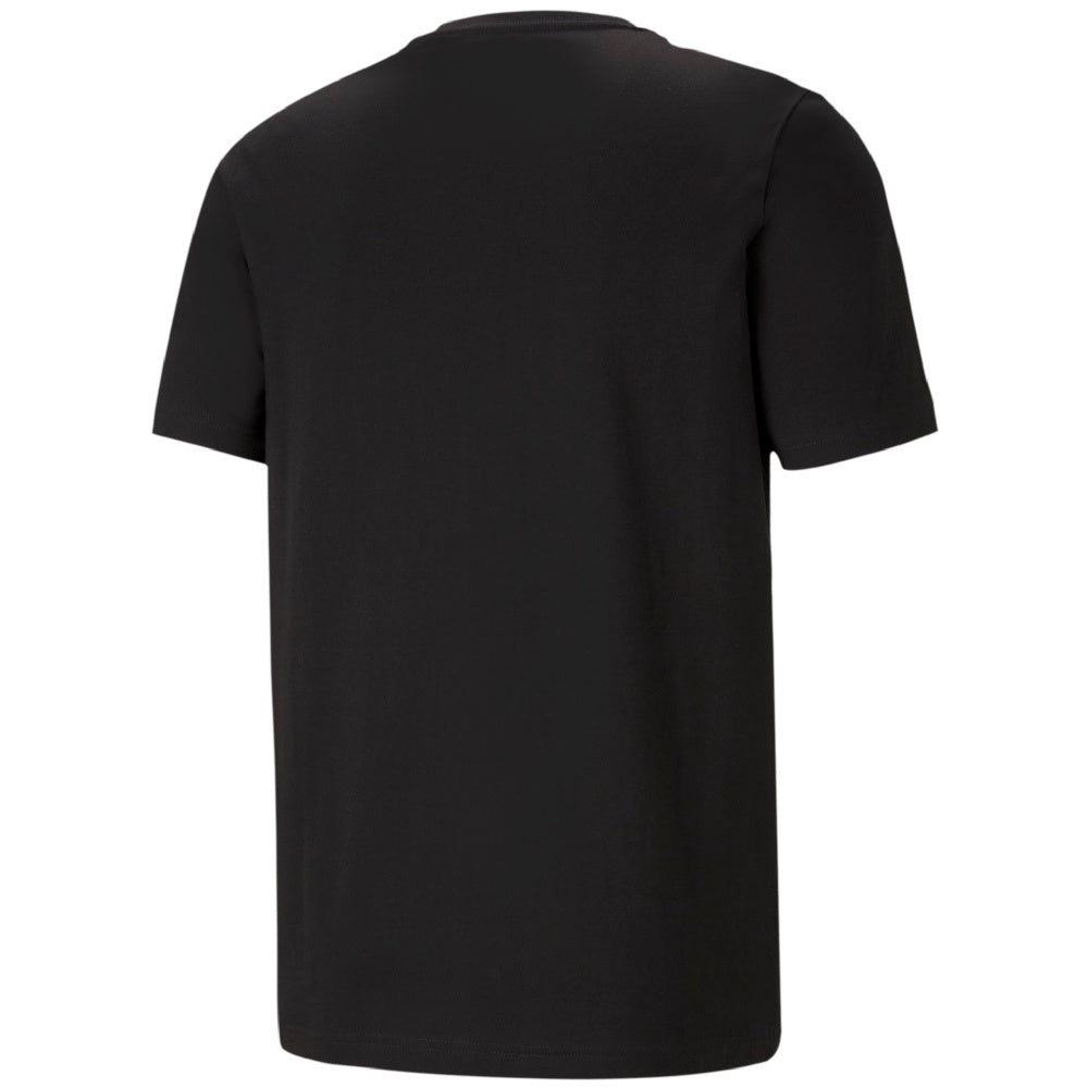 PUMA | MENS ESSENTIALS LOGO TEE (BLACK/WHITE)
