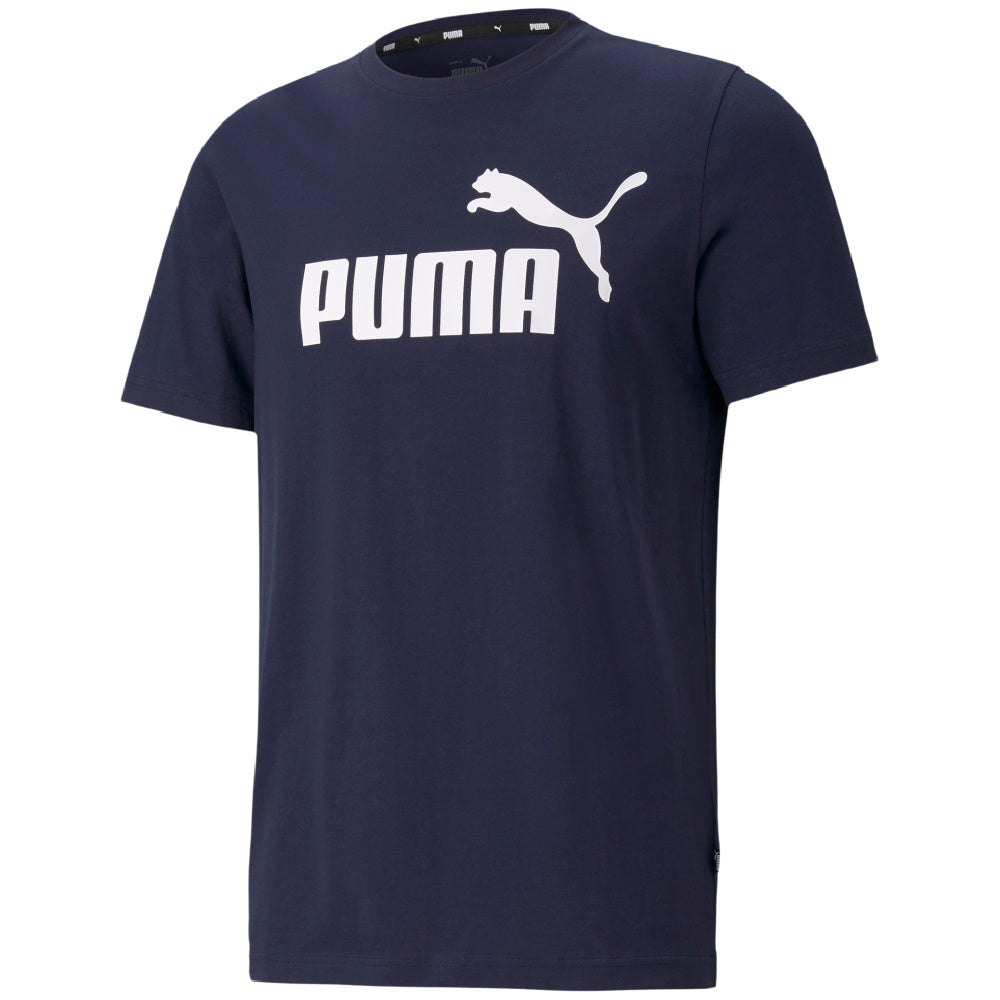 PUMA | MENS ESSENTIALS LOGO TEE (PEACOAT/WHITE)