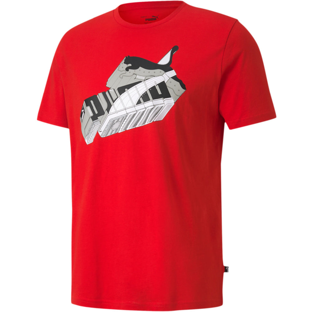PUMA | MENS SNEAKER INSPIRED TEE RISK RED