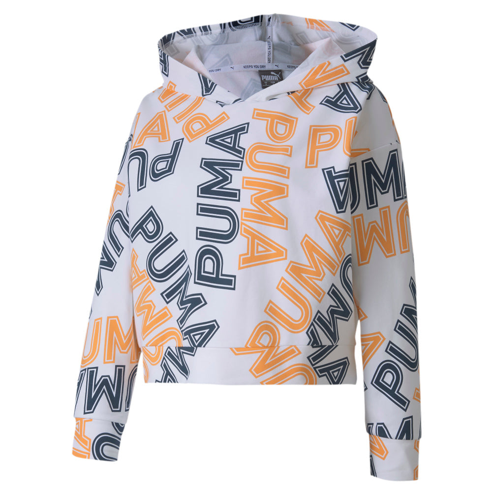 PUMA | WOMENS MODERN SPORTS AOP HOODY WHITE