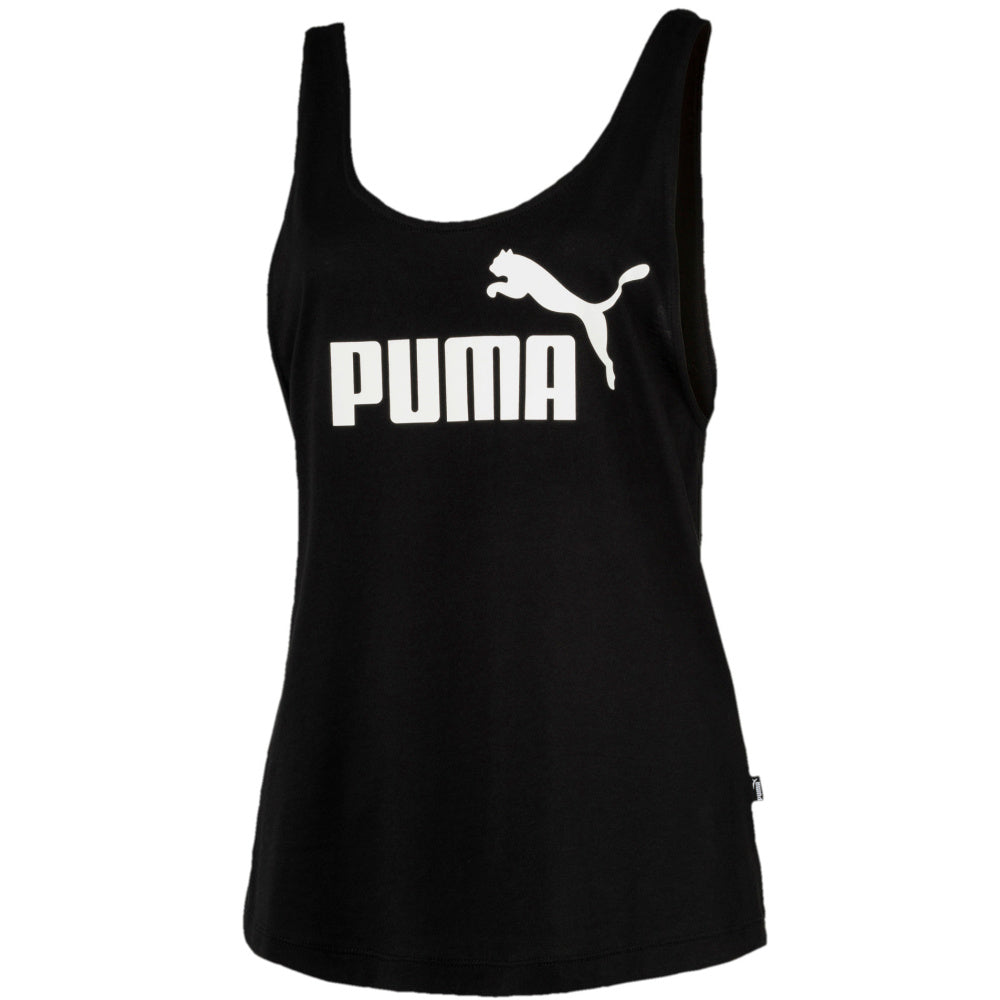 PUMA | WOMENS ESSENTIALS LOGO TANK TOP BLACK