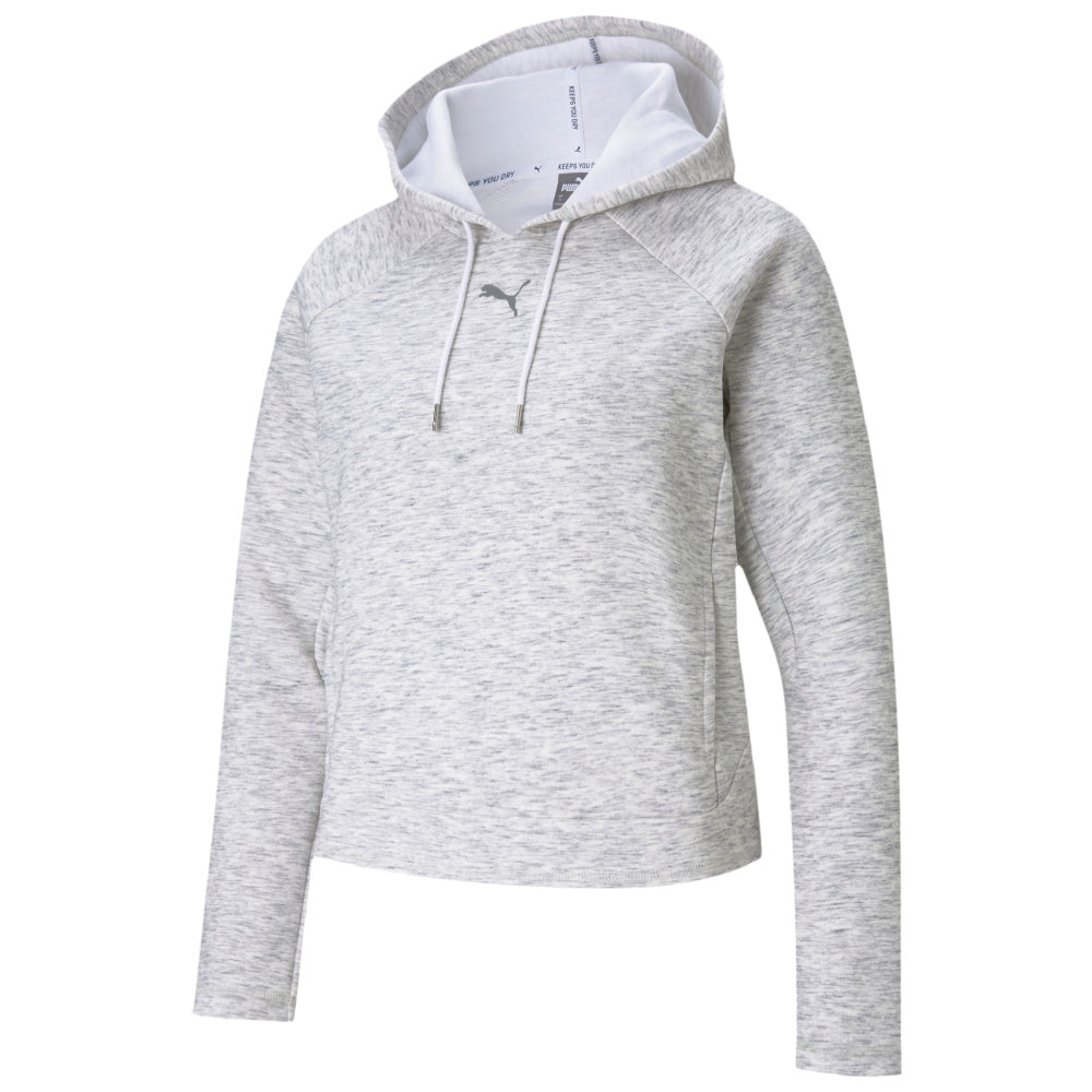 PUMA | WOMENS EVOSTRIPE HOODIE (WHITE HEATHER)