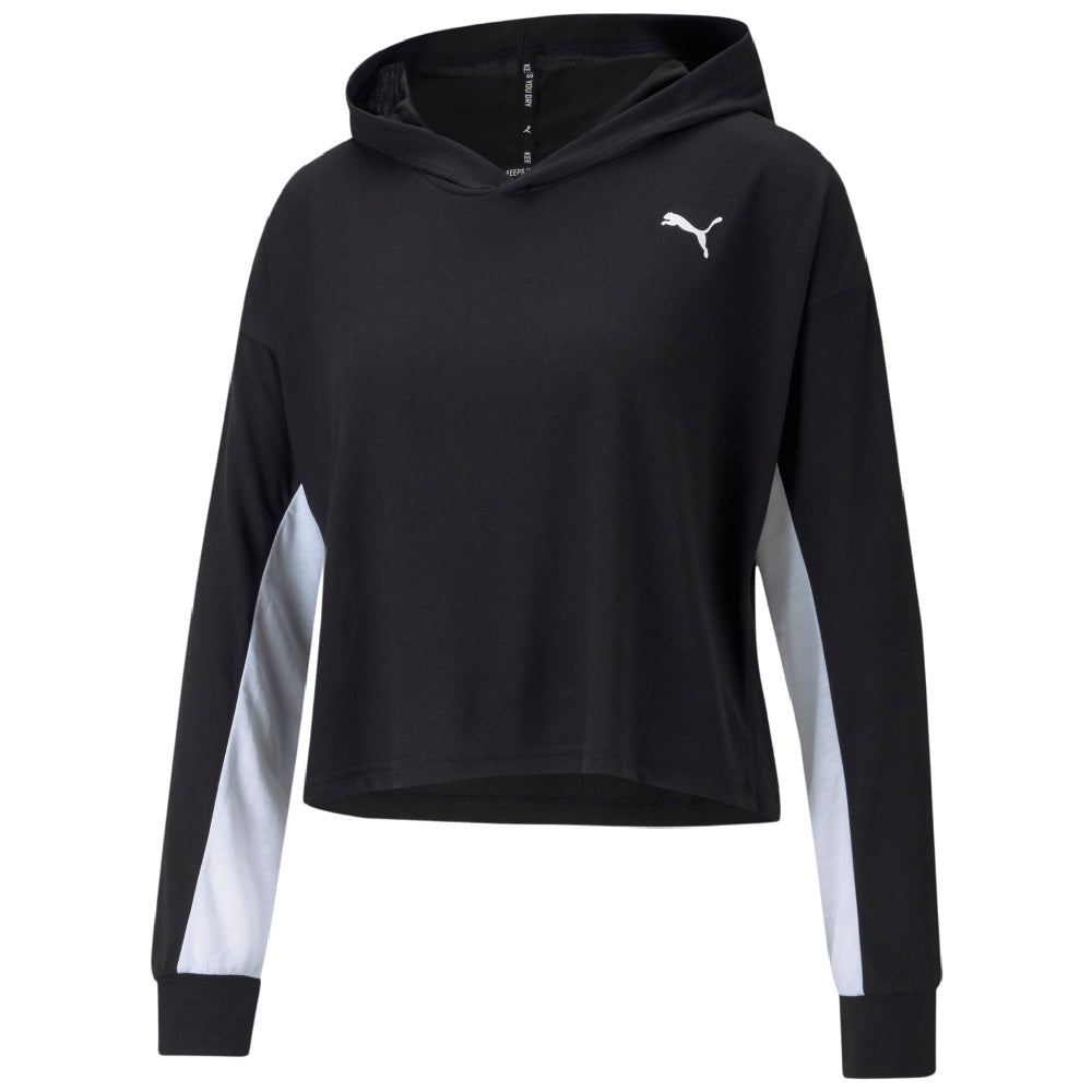 PUMA | WOMENS MODERN SPORTS LIGHTWEIGHT HOODIE (BLACK)