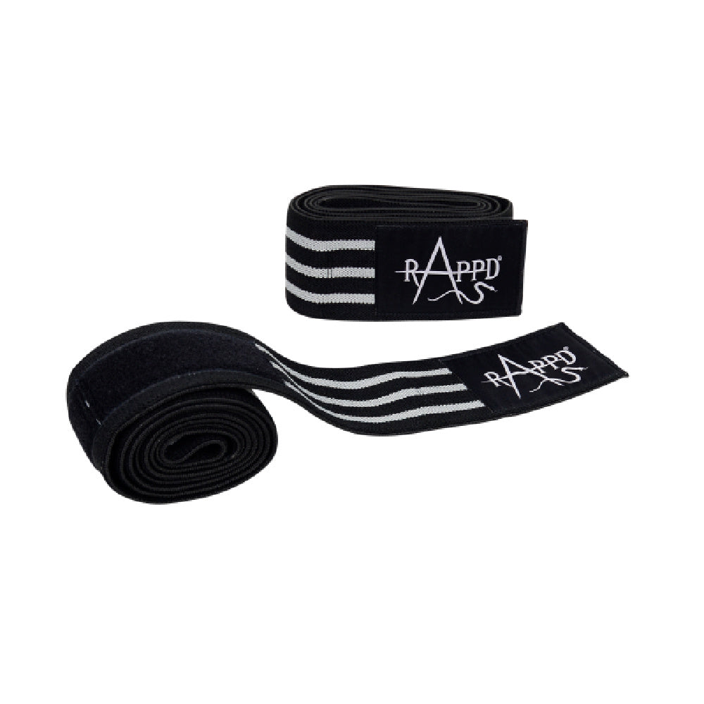 RAPPD | HEAVY DUTY ELBOW WRAPS (BLACK/GREY)