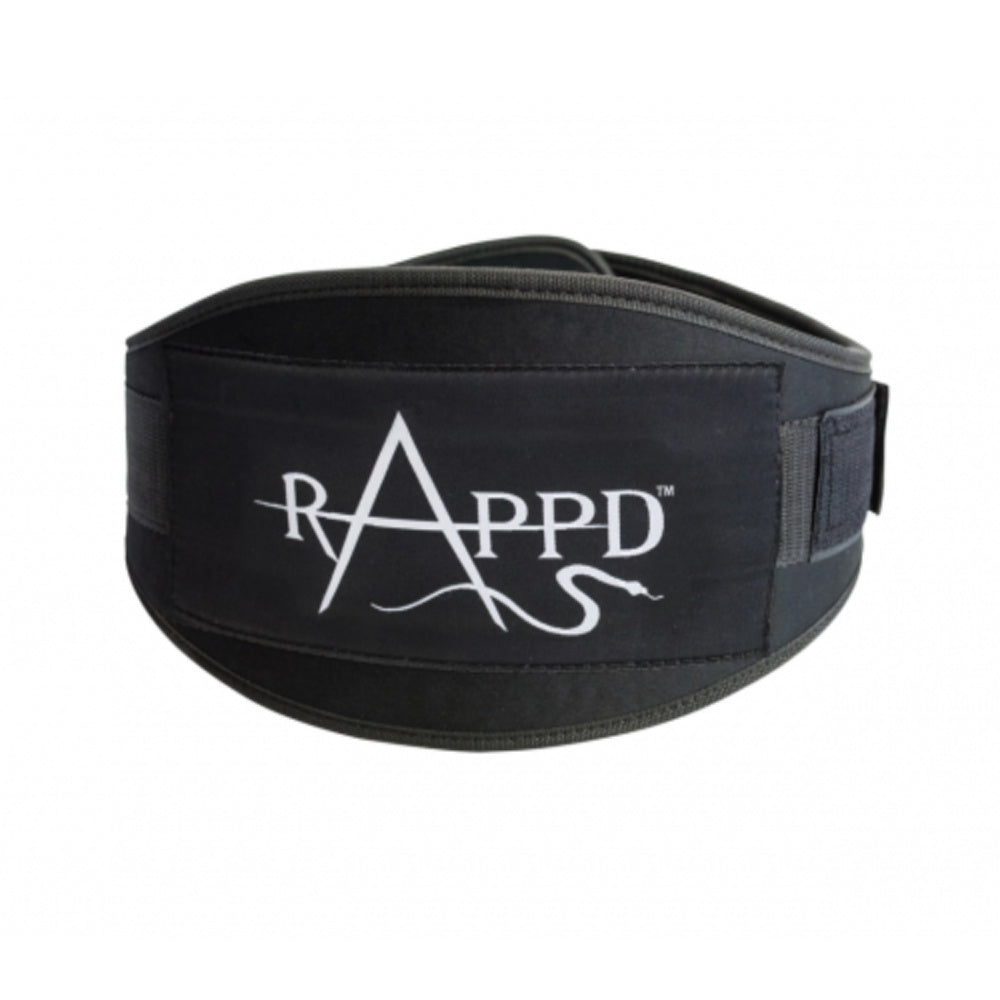 "RAPPD | TRAINING BELT 6"" HEAVY DUTY 9MM NEOPRENE (BLACK)"