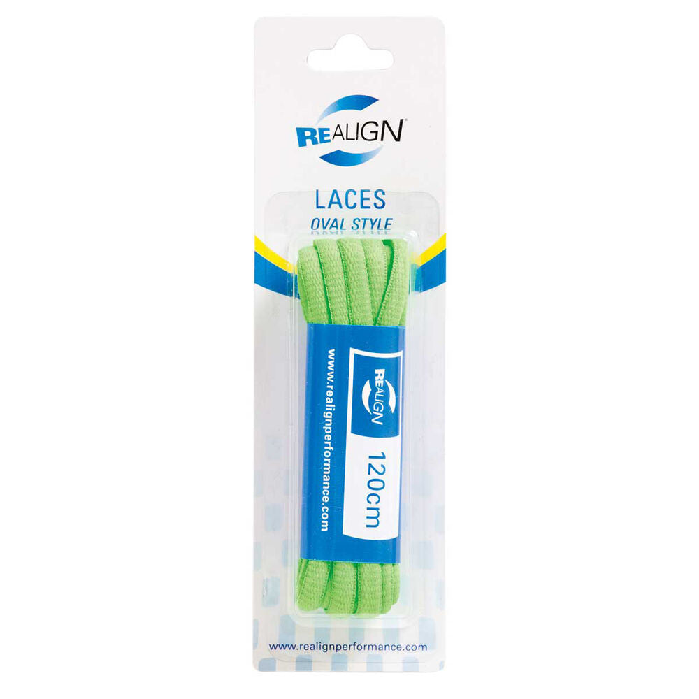 REALIGN | 120CM OVAL SHOE LACES FLURO GREEN