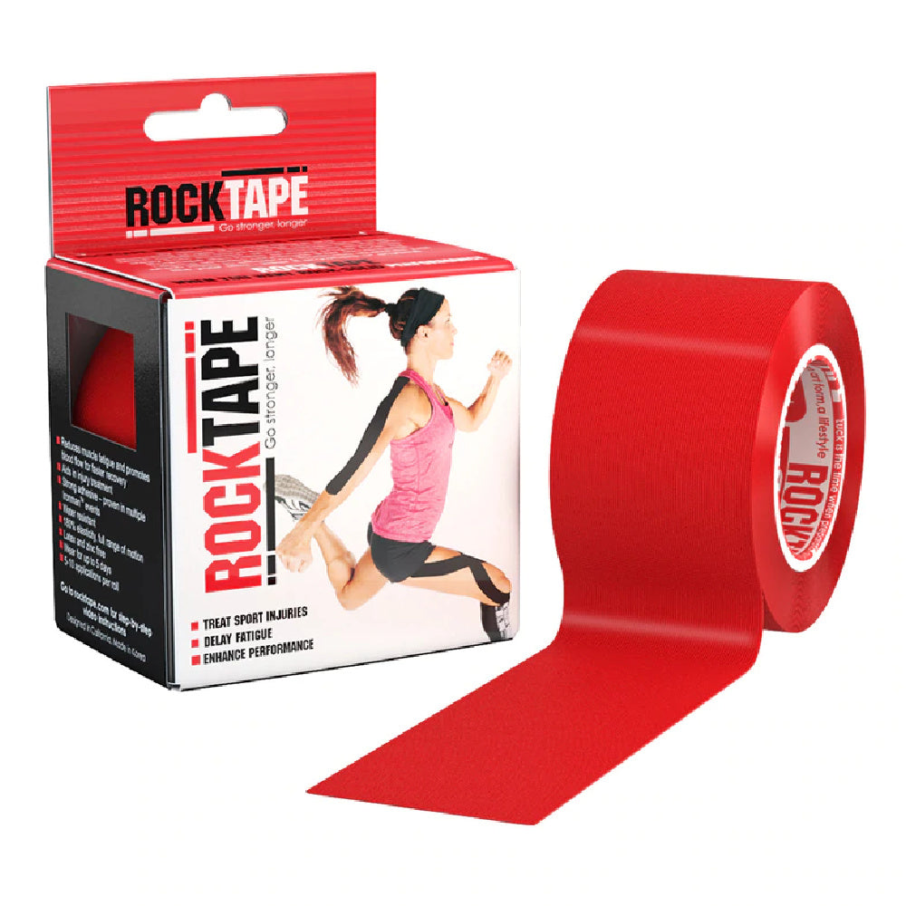 ROCKTAPE | STANDARD 5CM X 5M RED PLAIN