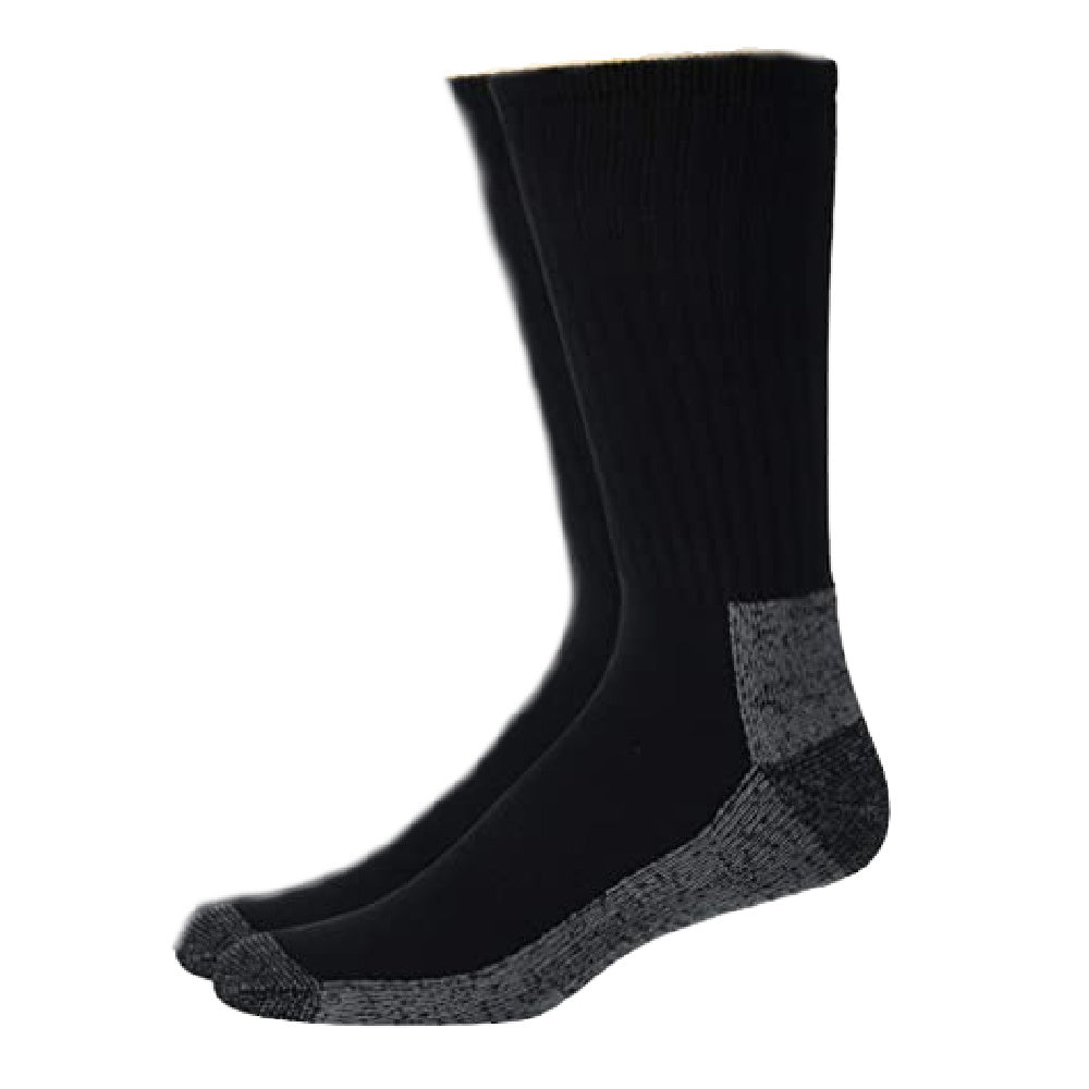 SOFSOLE | MENS WORK SOCKS STEEL TOE CREW 2PACK BLACK