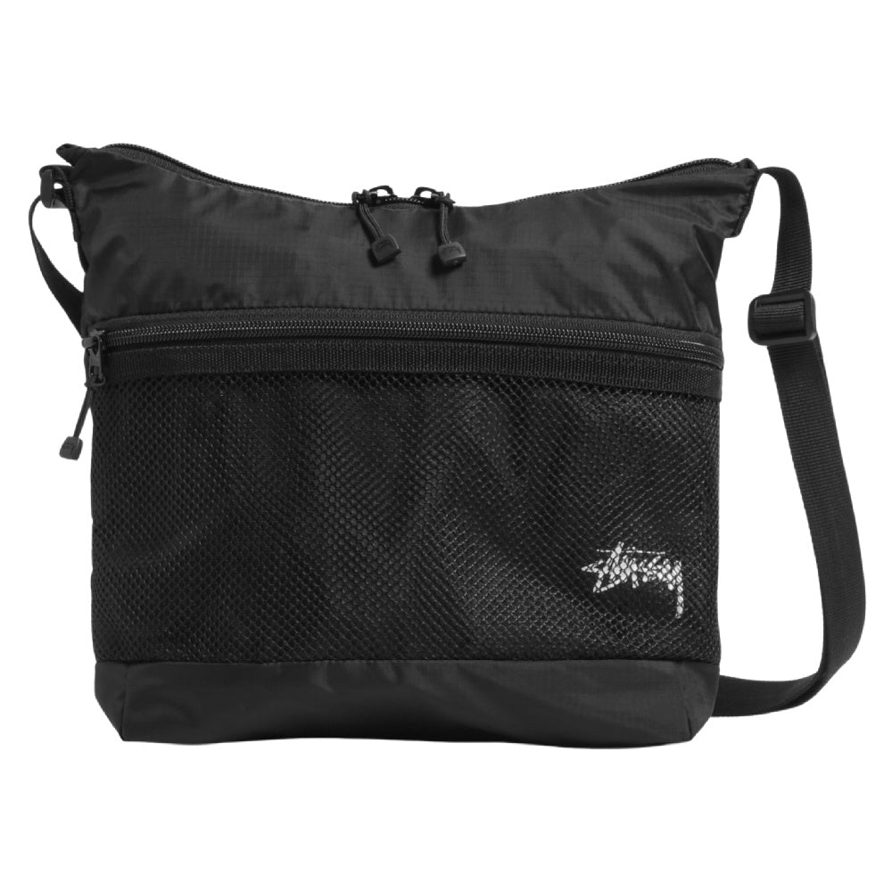 STUSSY | STOCK PANEL SHOULDER BAG BLACK