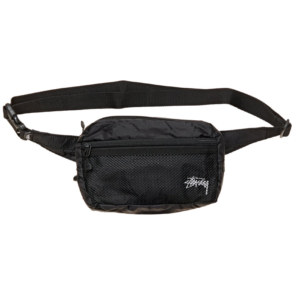 STUSSY | STOCK PANEL WAISTBAG BLACK