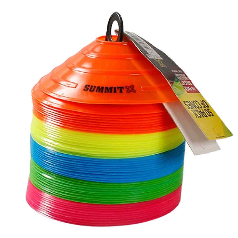 SUMMIT | MARKER CONES 50 PACK (GREEN/PINK/ORANGE/YELLOW/BLUE)