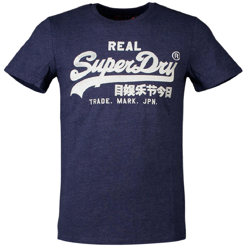 SUPERDRY | MENS VINTAGE LOGO EMBROIDERY PRIMARY TEE (BLUE MARL)