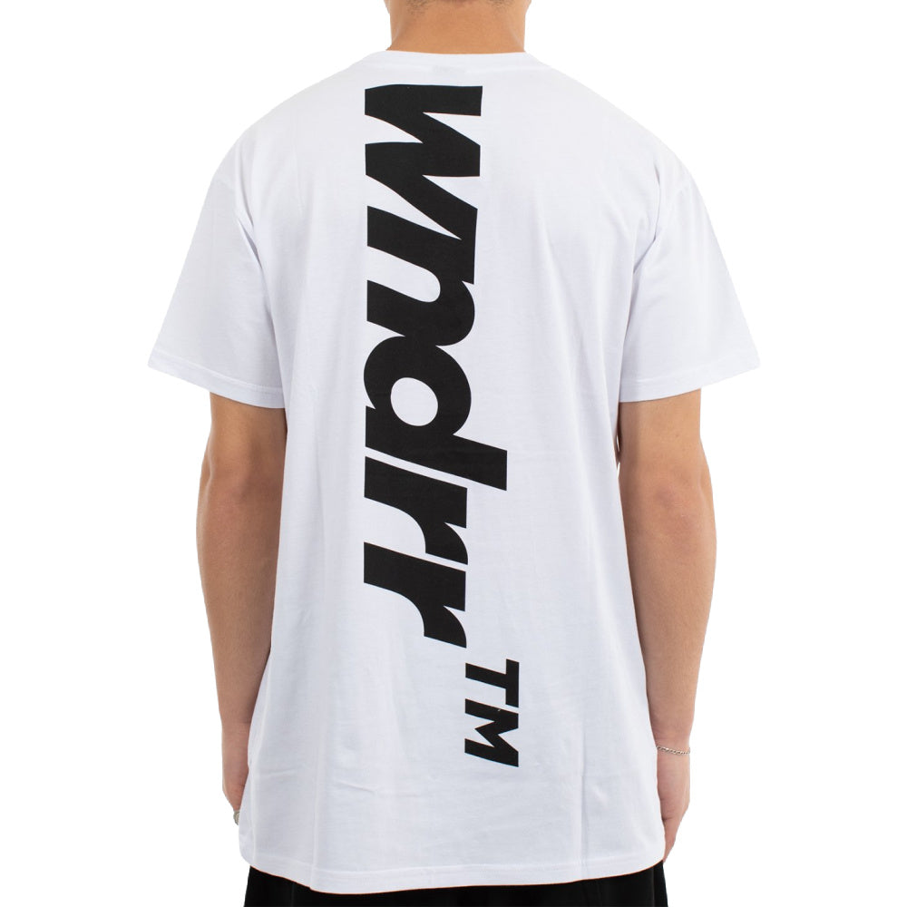 WNDRR | MENS BACKLASH CUSTOM FIT TEE WHITE